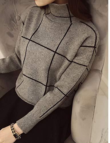 JFHGNJ Coltrui vrouwen trui patchwork outfit nieuwe casual losse han editie dikke lange mouwen gebreide kleding