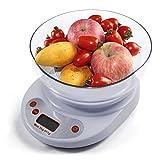 Hikenn Küchenwaage Feinwaage 5000g/1g 5kg 11lb Digitale Elektronische Food Diet Gewicht-Balance
