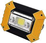 JFFFFWI Proyector LED 10W LED Luces de Trabajo Recargables...