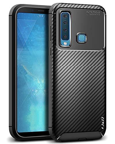 J&D Compatible para Galaxy A9 2018 Funda, [Fibra Carbono] [Parachoques Ligero] Resistente Funda TPU Protectora e Anti-Scratch Blando Funda para Samsung Galaxy A9 2018 - [No para Galaxy A9 2016]