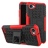 Sangrl Funda para LG Stylus Q6 / Q6 / Q6 Plus / G6 Mini, Robusto y Durable Bumper Híbrida Resistente 2 en 1 Armadura Protectora Armadura Arañazos Case Anti caída Case - Rojo