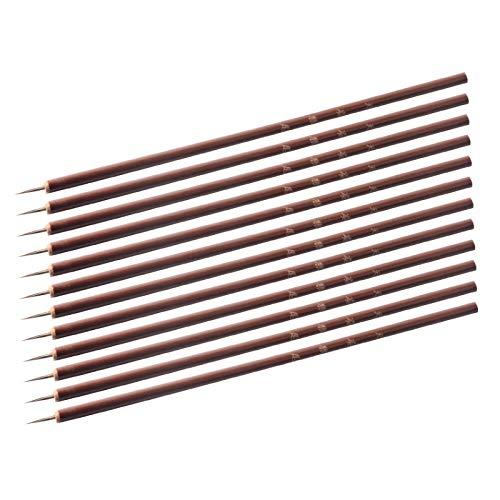 WATERMELON 10pcs / lot Petite Brosse Ongles Outils Bambou poignée Nail Art Peinture Brosses 13mm Ongles Liner Pinceau Bricolage Outils manucure