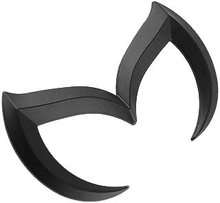 SuPoo For Mazda Black Sporty Metal Evil 'M' Rear Trunk Badge Decal Emblem Matte 3 5 6