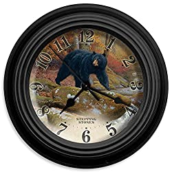 Reflective Art Stepping Stones Wall Clock, 10