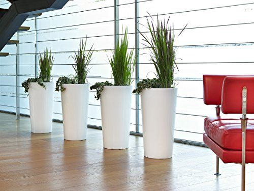 EURO3PLAST Pflanzenkübel Tuit, Durchmesser 40 x 75 cm, weiß - 2