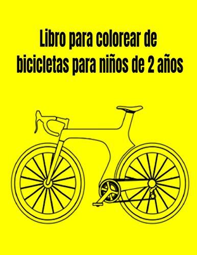 Libro para colorear de bicicletas para niños de 2 años