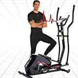 ANCHEER Elliptical Machine, Elliptical Trainer with APP Connected, 390 Weight Capacity & Large Multi-Function LCD Display for Walking Home & Office Cardio Exercise