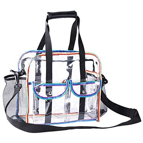 MOFASVIGI Large Clear Tote Bag for Women Men, Waterproof Transparent PVC...