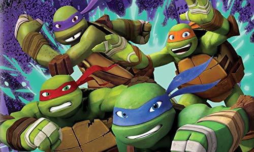 Ninja Turtles Tortenaufleger, Rechteckig A4 - Geburtstag Tortenbild Zuckerbild Tortenplatte Oblate Kuchenzuckerplatte