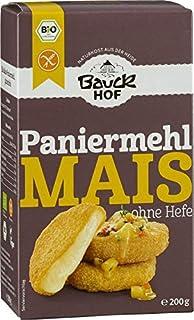 Bauckhof Mais-Paniermehl ohne Hefe, 2er Pack 2 x 200 g Tüte - Bio