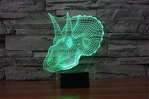 Lotos Nueva Forma De Super Tyrannosaurus Iluminación Única Efectos De Iluminación Coloridos Interruptor Táctil Escultura Artística Decoración Lámpara De Mesa De Luz Nocturna