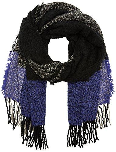 ICHI Dames A FAISA SC sjaal, meerkleurig (Deep Blue 14225), One Size