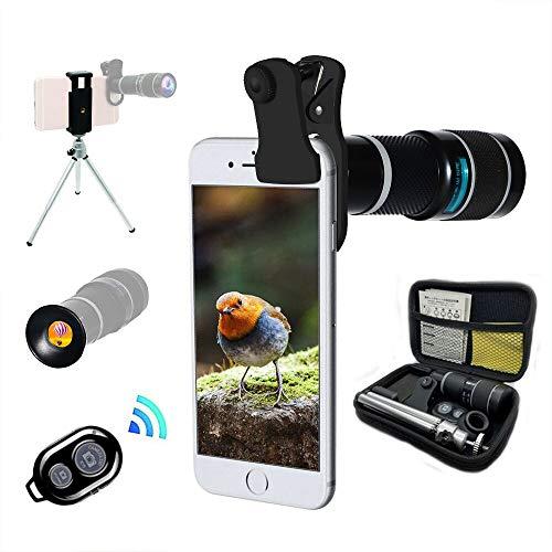 Lente Cámara Teléfono, Teleobjetivo Zoom 20X Universal, Trípode, Telescopio Monocular, Adecuado Para Casi El 98% De Teléfonos Inteligentes En El Mercado IPhone Compatible Samsung