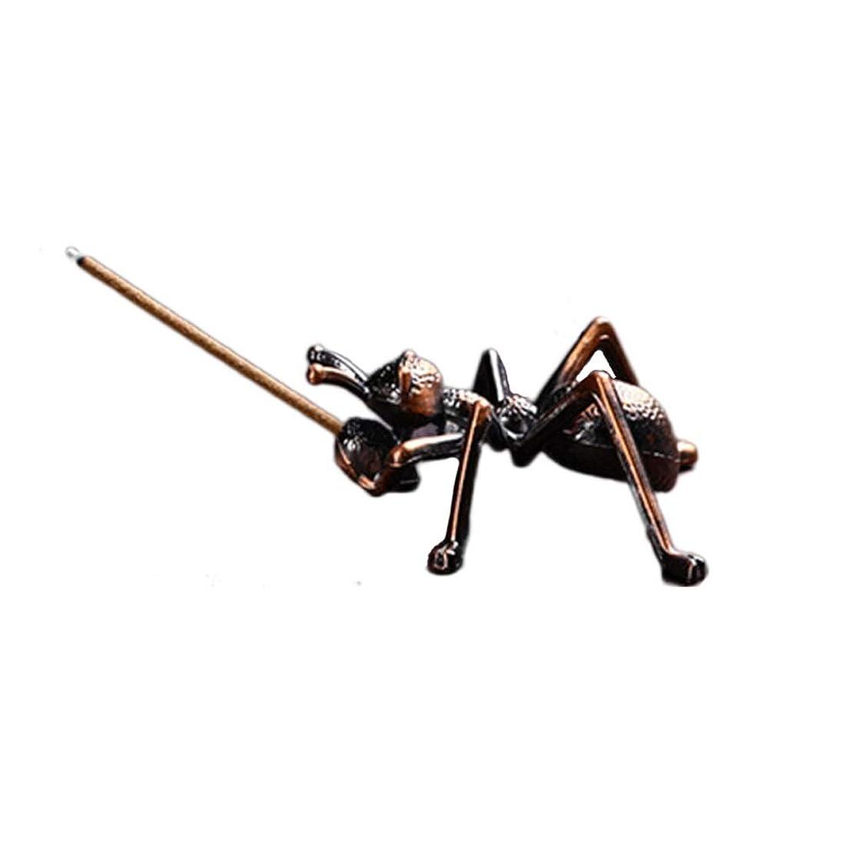 ナチュラルせがむ正確な合金蟻香バーナーミニ線香ホルダー小さな香バーナーホルダーホームデコレーション香オイルバーナー (Color : Brown, サイズ : 1.96*0.86inchs)