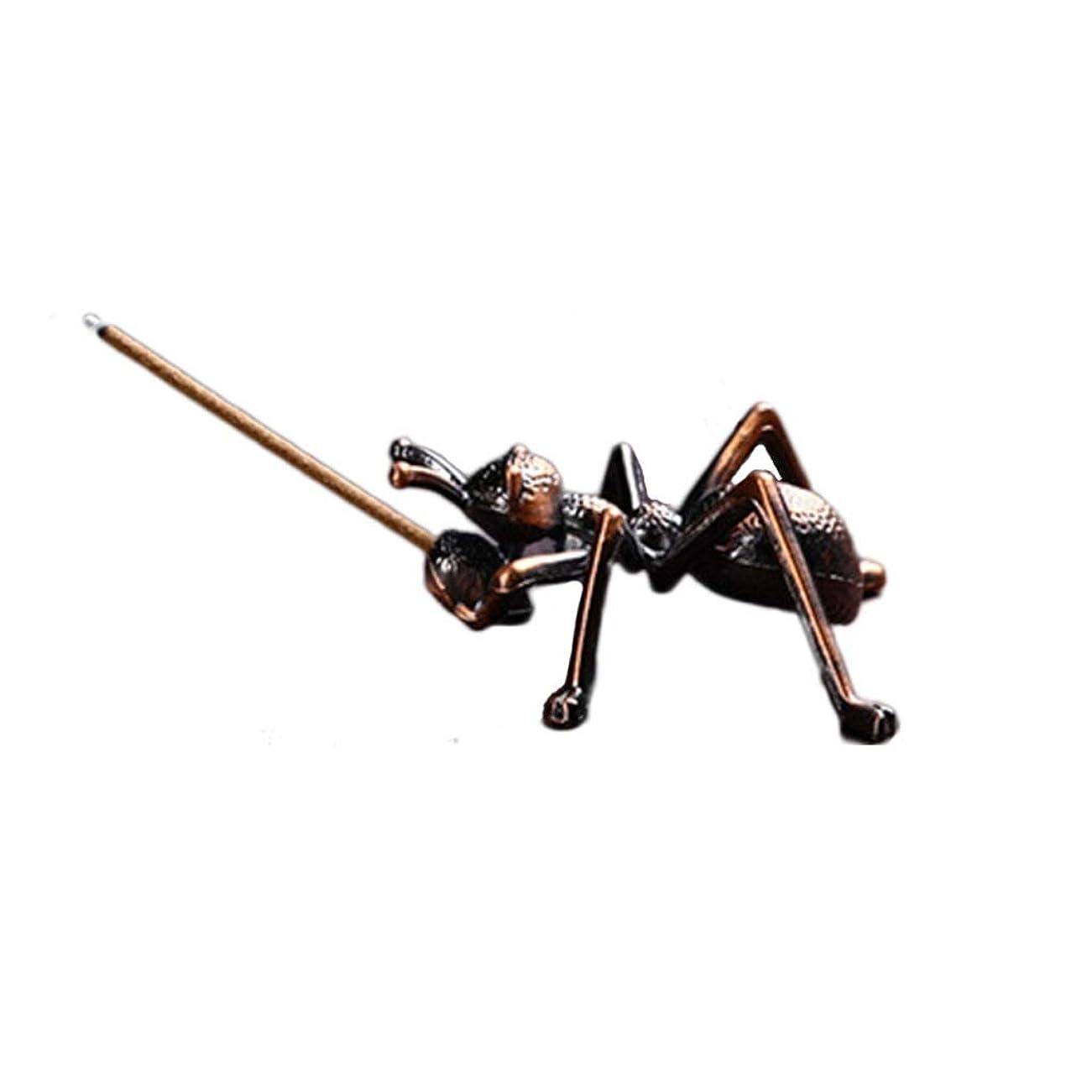 慣れているラリーアトムミニ香ホルダー合金蟻香バーナー小さな香ホルダーホーム香り装飾香スティックバーナーホルダー (Color : Brown, サイズ : 1.96*0.86inchs)