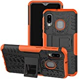 Galaxy A10E Case, Viodolge [Shockproof] Rugged Dual Layer Protective Phone Case Cover with Kickstand for Samsung Galaxy A10e (Orange)