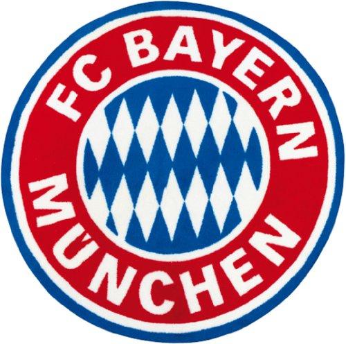 FC Bayern München Fan Teppich 100cm rund Logo Bundesliga Fussball kinderland24
