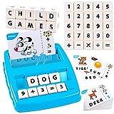 MMTX Juguetes Educativos niños 3 años, Juegos Educativos Montessori Juguetes Regalo de Matemáticas y Letras niños 3 4 5 6 años, Juego de Aprendizaje Números y Letras Juguetes para 3 4 5 6años