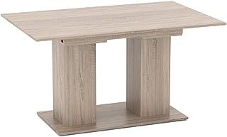 Table Vicco DIX 90 x 140 cm - Table de Salle à Manger avec rallonge 180 cm, Cuisine, Table