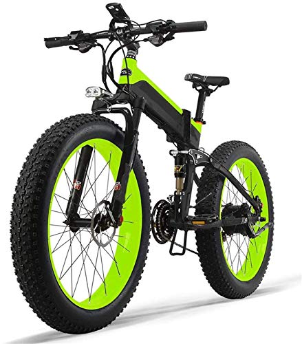 Ebikes, bicicleta eléctrica Bicicleta eléctrica de montaña con tenedor de suspensión Motor potente batería de litio duradera y amplia gama Bici de grasa 13Ah Potencia eléctrica Bicicleta LED de bicicl