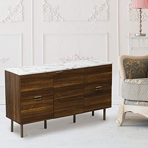 GOOD & GRACIOUS Credenza Sideboard Buffet Console Storage Cabinet 48