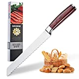 Serrated Bread Knife 8 Inch - High Carbon Ultra Sharp Stainless Steel Kitchen Knife with Wood...