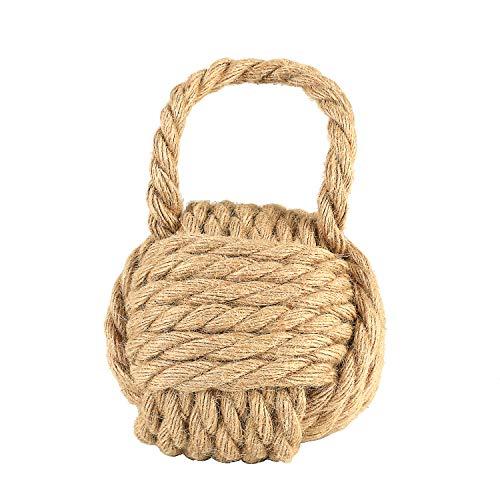 Creative Co-Op Nautical Rope Knot Door Stop, Natural