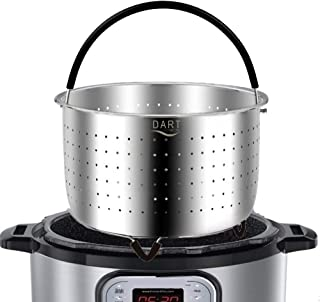 The Original - Steamer Basket Insert, Stainless Steel - for 6 qt and 8 Quart Instant Pot, Pressure Cooker - Strainer for Pasta, Rice Tamales, Fish, Veggies, Eggs