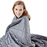 Hypnoser Weighted Blanket Twin Size 15 lbs 48'x72' for Kids and Adults | Breathable Material for 130-170 lbs Individual,Fits Twin or Full Size Beds (Dark Grey)