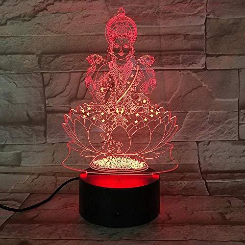 Luz de la noche Luz de noche con forma de ídolo supremo 3D 7 luz decorativa que cambia de color control remoto táctil de regalo de juguete para niños