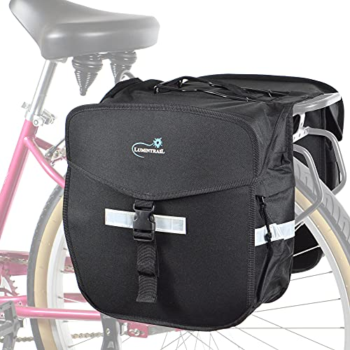 Lumintrail Double Pannier Bike Bags 36L Bag Capacity for Rear Bicycle Rack