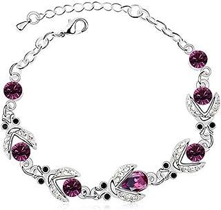 925 Sterling Silver Ladybug Charm Bracelets Sparkling Crystal Chain Bracelet Adjustable Jewelry Gifts for Women Wife Girls...