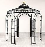 ELEO Milano runder Garten-Metall-Pavillon, Ø 2,9 Meter (Oberfläche: anthrazit duplexbeschichtet)