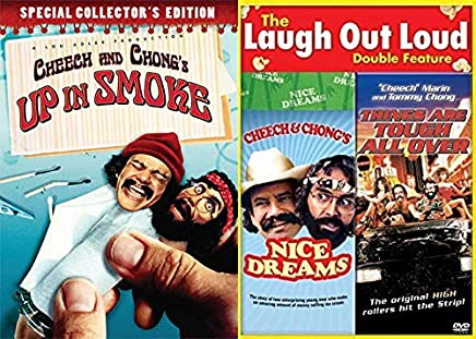 Getting High + Acting Weird: Cheech and Chong's Up In Smoke (Collector's Edition) + Next Movie/ Things Are Tough All Over 3 Feature Film DVD Bundle