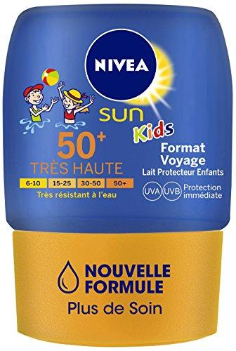 Nivea Sun - Kids Lait Protecteur Format Voyage Fps50+ - 50 ml - Lot de 2