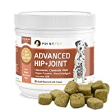 Pointpet Advanced Glucosamine For Dogs Hip And Joint Supplement Soft Chews - Dog Joint Health Treats - Dog Pain Relief - Joint Care Chews With Chondroitin - Organic Turmeric - Omega 3 - Mobility Bites