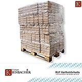 1000 kg Holzbriketts RUF Hartholz Briketts Kamin Ofen Brikett Brennholz Heizbrikett aus reiner Eiche 100 x 10kg / 1000kg Palette RUF Brikett Eckig