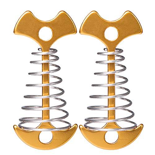 KOUJING 2pcs Fishbone Carpa Estacas Estacas Estacas De Aleación De Aluminio Piso Clavo De Suelo De Clavo