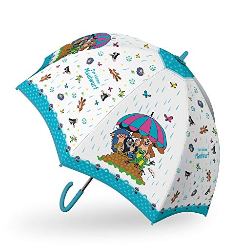 Trötsch Der kleine Maulwurf Regenschirm Maulwurf blau: Kinder Regenschirm