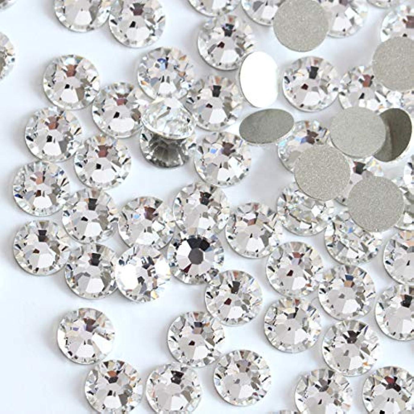 下手スペル輸送【ラインストーン77】高品質ガラス製ラインストーン 色/サイズ選択可 SS3~SS50 (クリスタル, SS5:約1.7mm(約200粒))