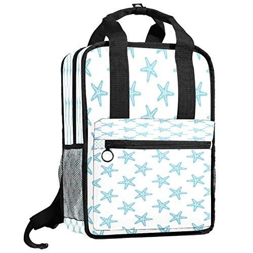 Backpacks Shoulders Bag azure sea star Backpack traveling middle school high school