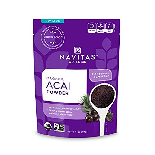Navitas Organics Acai Powder, 4 oz. Bag, 38 Servings — Organic, Non-GMO, Freeze-Dried, Gluten-Free