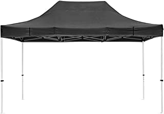 Instahibit 10x15 ft Pop Up Canopy Tent Commercial Ez up Canopy Shade for Trade Fair Party Tent with 1680D Roller Bag