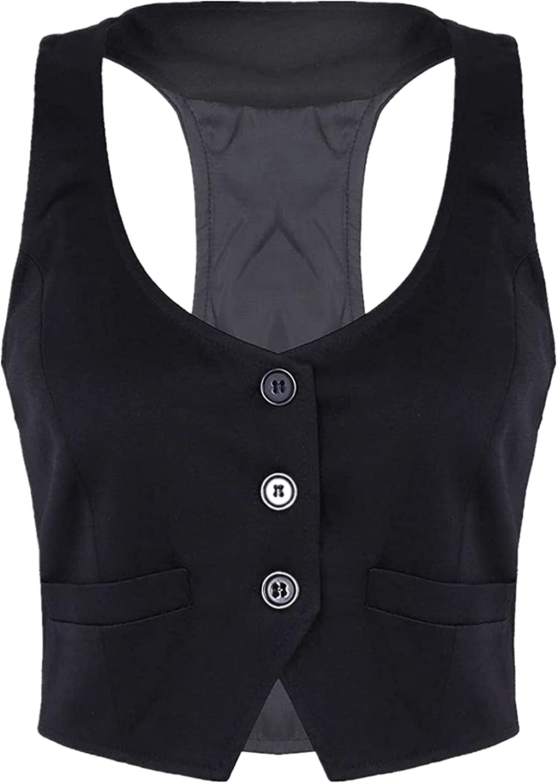 Women Dressy Casual Versatile Racerback Suit Vest Womens Award-winning store 2021 autumn and winter new Vi