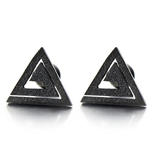 boucle d'oreille hommes triangle