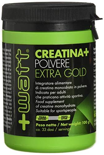 +Watt 11881 Creatina+ Extragold Integratore alimentare di creatina monoidrato, 100 g