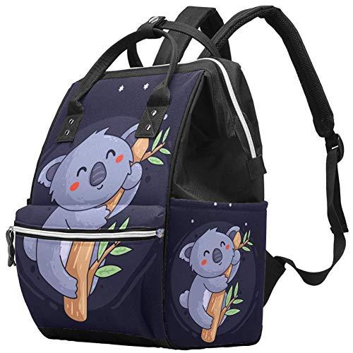 Grand sac /à langer multifonction pour b/éb/é Motif Koala mignon Sac /à langer Sac /à dos de voyage pour maman et papa