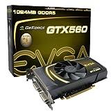 EVGA GeForce GTX 560 1024 MB GDDR5 PCI Express 2.0 2DVI/Mini-HDMI SLI Ready Graphics Card, 01G-P3-1460-KR