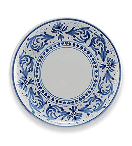 Ceramiche Siciliane Ruggeri Service d'assiettes 18 pièces motif Adellasia (bleu)