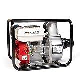 JHONSORR Motopompa a scoppio motore a benzina 4 tempi (60.000 l/h, 6,5 CV, 3 Pollici Raccordo, 30m...